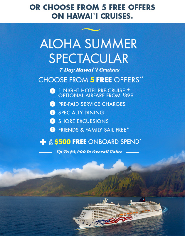 Norwegian's Aloha Summer Spectacular