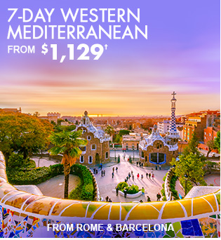 7-Day  Western Mediterranean from Rome & Barcelona