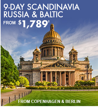 9-Day Scandinavia, Russia & Baltic from Copenhagen & Berlin