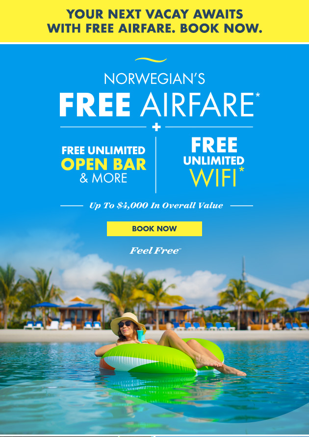 Norwegian's Free Airfare